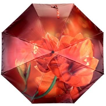 Зонт автомат 3 сложения Лилия Flioraj