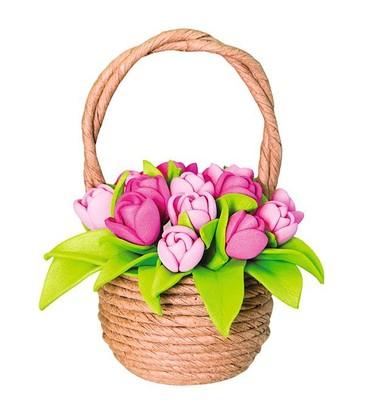 Набор для творчества Тюльпаны в корзинке Волшебная мастерская