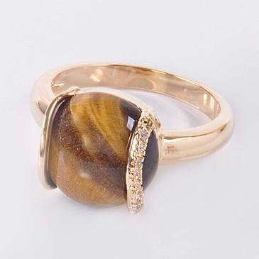 Кольцо с тигровым глазом Элана Lotus jewelry