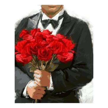 Раскраски по номерам. Розы для любимой  Color Kit