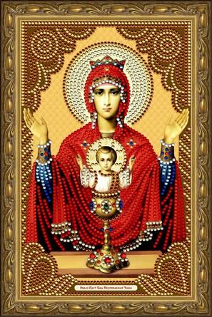 Иконы-картины со стразами. Образ Пресвятой Богородицы Неупиваемая Чаша Color Kit
