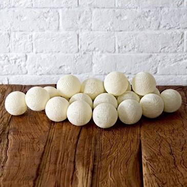 Гирлянда из 20 хлопковых шариков (от батареек) Lares&Penates