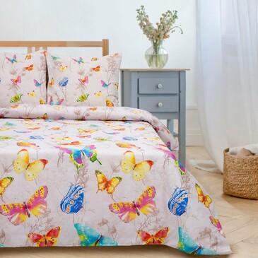 Комплект постельного белья Бабочки, поплин Этель