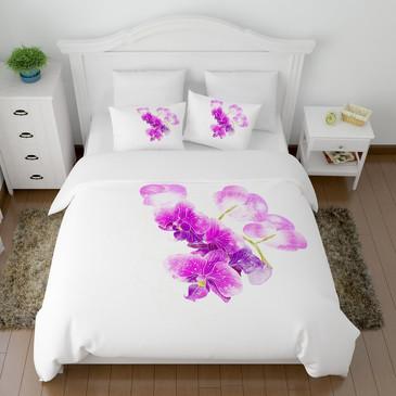 Комплект постельного белья Ветка орхидеи Сирень