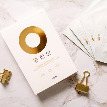GongJin White Выравнивающая тон кожи маска для лица с коллоидами золота и серебра Dr. Bom