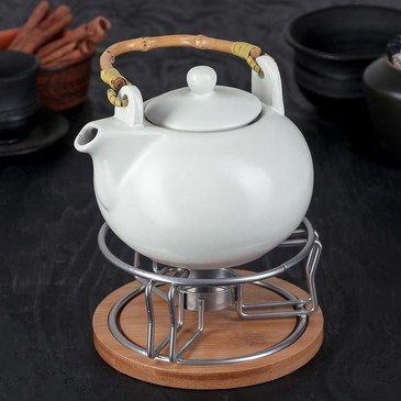 Чайник заварочный с подставкой для подогрева Эстет, 800 мл Доляна