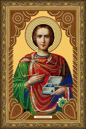 Иконы-картины со стразами. Святой Великомученик Целитель Пантелеймон Color Kit