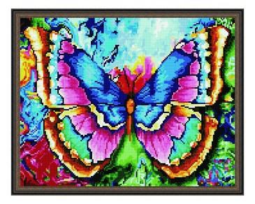 Алмазная мозаика. Радужная бабочка ВанГогВоМне