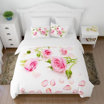 Комплект постельного белья Лепестки роз Сирень