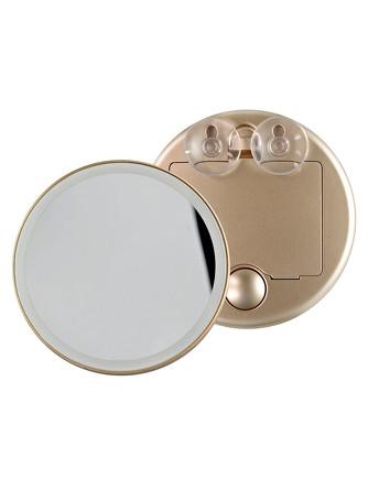 Зеркало косметологическое 10x, с подсветкой, золотое LM100  Gezatone