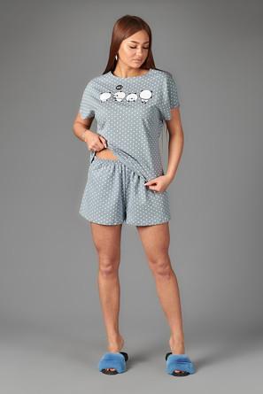 Пижама (футболка, шорты) Неженка