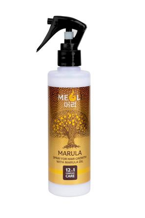 Спрей для роста волос с маслом Марулы комплексный уход 12 в 1, 250 мл  Meoli