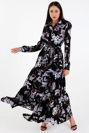 Платье рубашка с воланом Mist