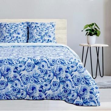 Комплект постельного белья Голубые пионы, поплин Этель