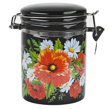 Банка для сыпучих продуктов (клипс) Маков цвет, 630 мл Dolomite