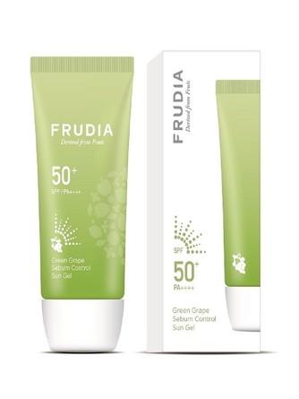 Солнцезащитный гель с зеленым виноградом Себум контроль SPF50+/PA ++++ Frudia