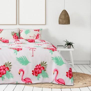 Комплект постельного белья Фламинго, микрофайбер Этель