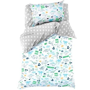 Комплект постельного белья Hello, Dino, фланель Этель