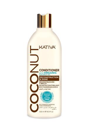 Восстанавливающий кондиционер с органическим кокосовым маслом для поврежденных волос Coconut 500мл K