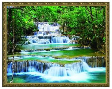 Алмазная мозаика. Каскадный водопад ВанГогВоМне