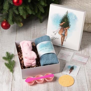 Набор подарочный (полотенце и аксессуары) Жду чудо Этель