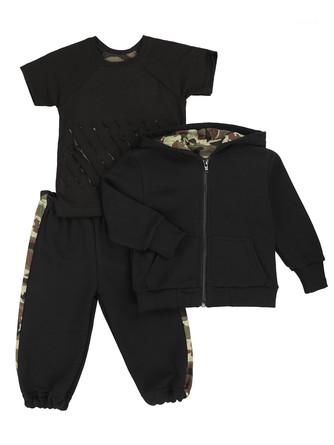 Комплект (толстовка, футболка и штаны) Грачонок