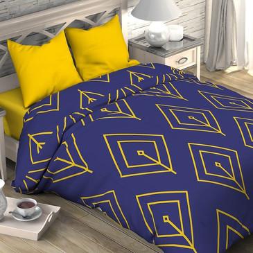 Комплект постельного белья Желтый лепесток, поплин Этель