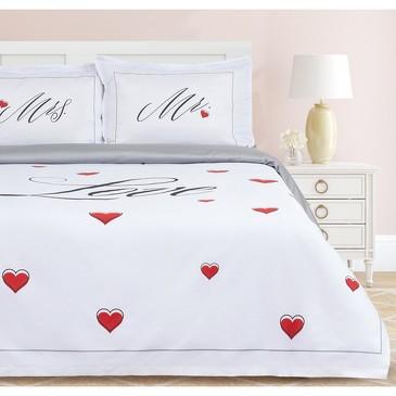 Комплект постельного белья Mr&Mrs, мако-сатин Этель