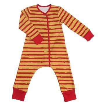 Пижама на кнопках Бордовая полоска Bambinizon
