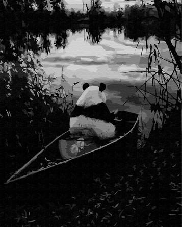 Картина по номерам на подрамнике. Панда на рыбалке ВанГогВоМне