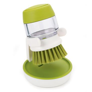 Щетка с дозатором моющего средства Palm Scrub™ зеленая Joseph Joseph