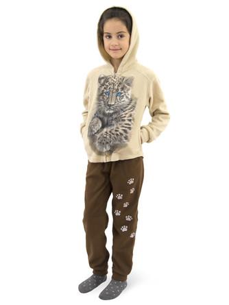 Набор флисовый (толстовка и штаны)  Леопард MF