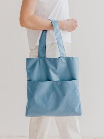 Сумка-шоппер Голубой с карманами Varika