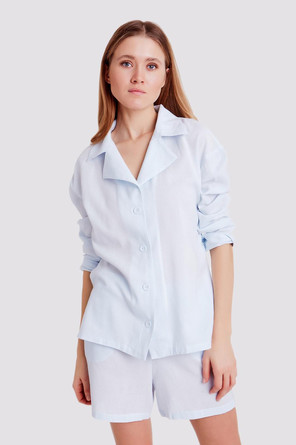 Блуза с воротником Enjoy Minaku