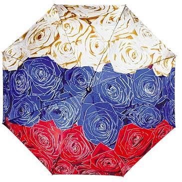 Зонт автомат 3 сложения Гордость Империи розы Flioraj