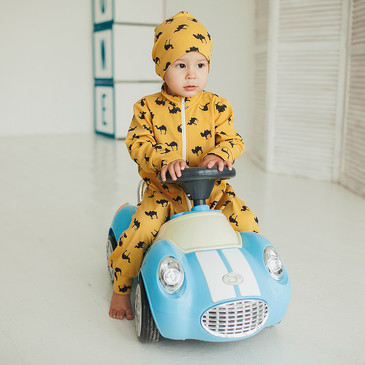 Комбинезон-пижама на молнии легкий Верблюды Bambinizon