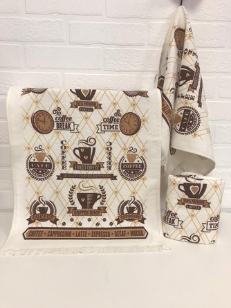 Кухонное полотенце Кофе-Часы Diva Afrodita