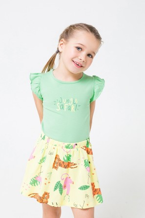 Комплект Солнечный леопард (футболка и юбка) Crockid