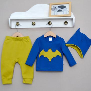 Комплект (лонгслив, брюки и шапка) Супергерой Baby Boom