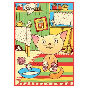 Одеяло байковое Кот на кухне, 100х140 Baby Nice