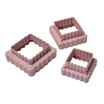 Набор (3 квадратных формочек для нарезки теста) Fissman