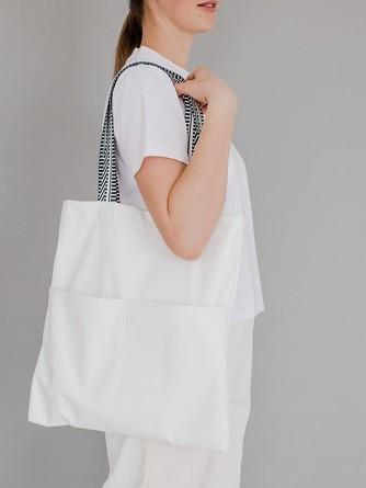 Сумка-шоппер Белый с карманами Varika