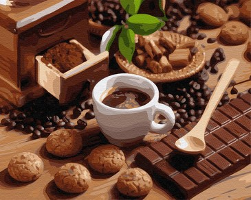 Картина по номерам на подрамнике. Шоколад с кофе ВанГогВоМне