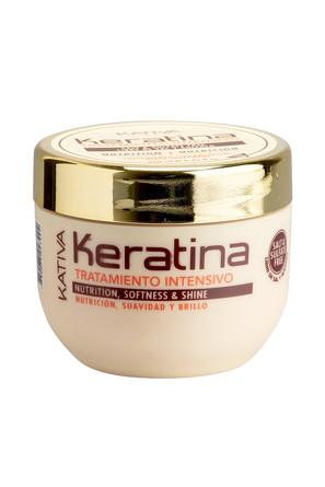 Интенсивный восстанав. уход с кератином для повреж. и хруп.волос Keratina  250мл Kativa