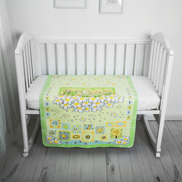 Одеяло байковое Паровозик, 85х115 Baby nice