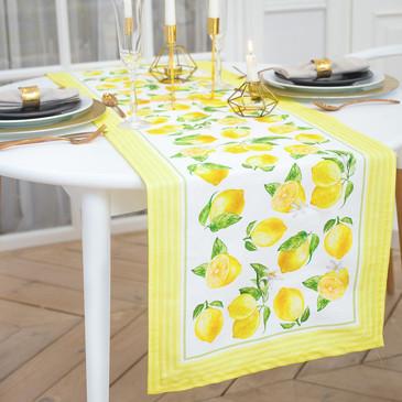 Дорожка на стол Лимоны Этель