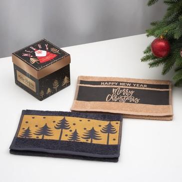 Набор махровых полотенец Merry christmas (2 шт.) Этель