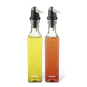 Набор бутылочек для масла и уксуса 2х250мл (стекло) Fissman