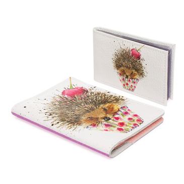 Комплект Ёжик с вишенкой (обложка на паспорт и визитница) Eshemoda