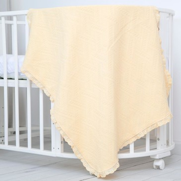 Одеяло вязанное с рюшами, 80х100 Baby Nice